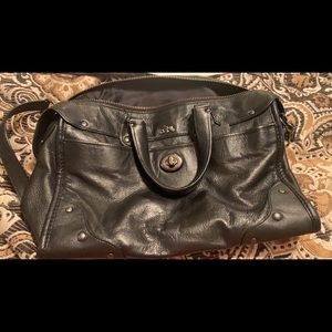 Coach Leather Satchel - Black